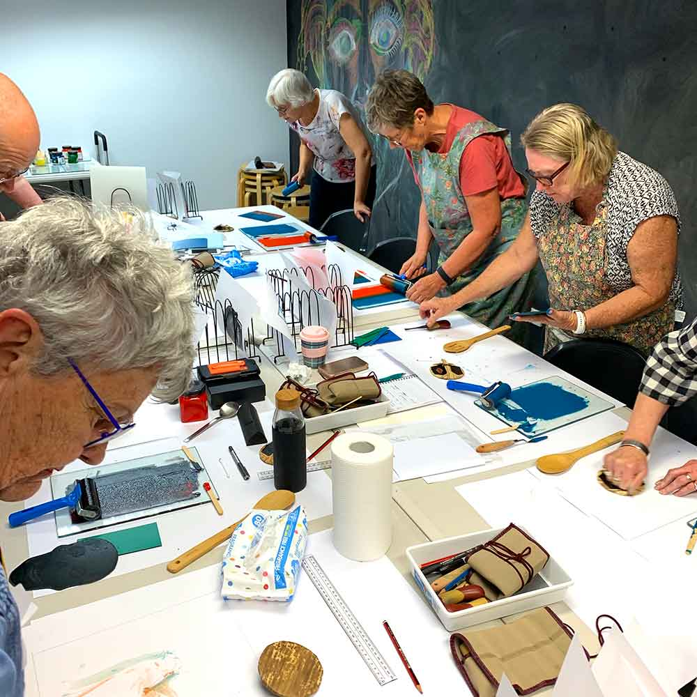 Linoprinting 101 at Caloundra Regional Gallery October 2019