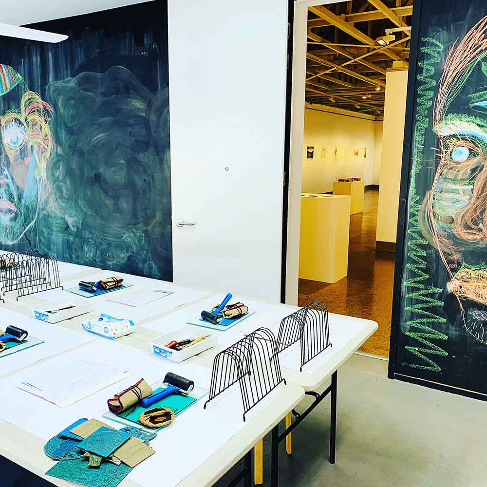 Linoprinting 101 at Caloundra Regional Gallery October 2019