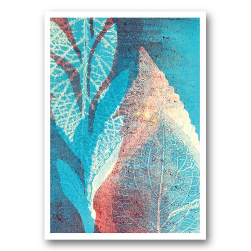 Alizarin Garden - card front