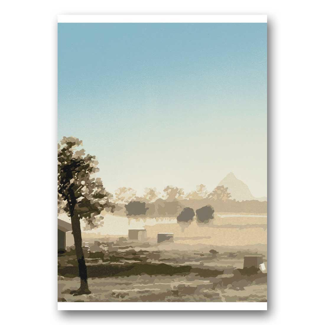 Beerwah Rising – Greeting Card