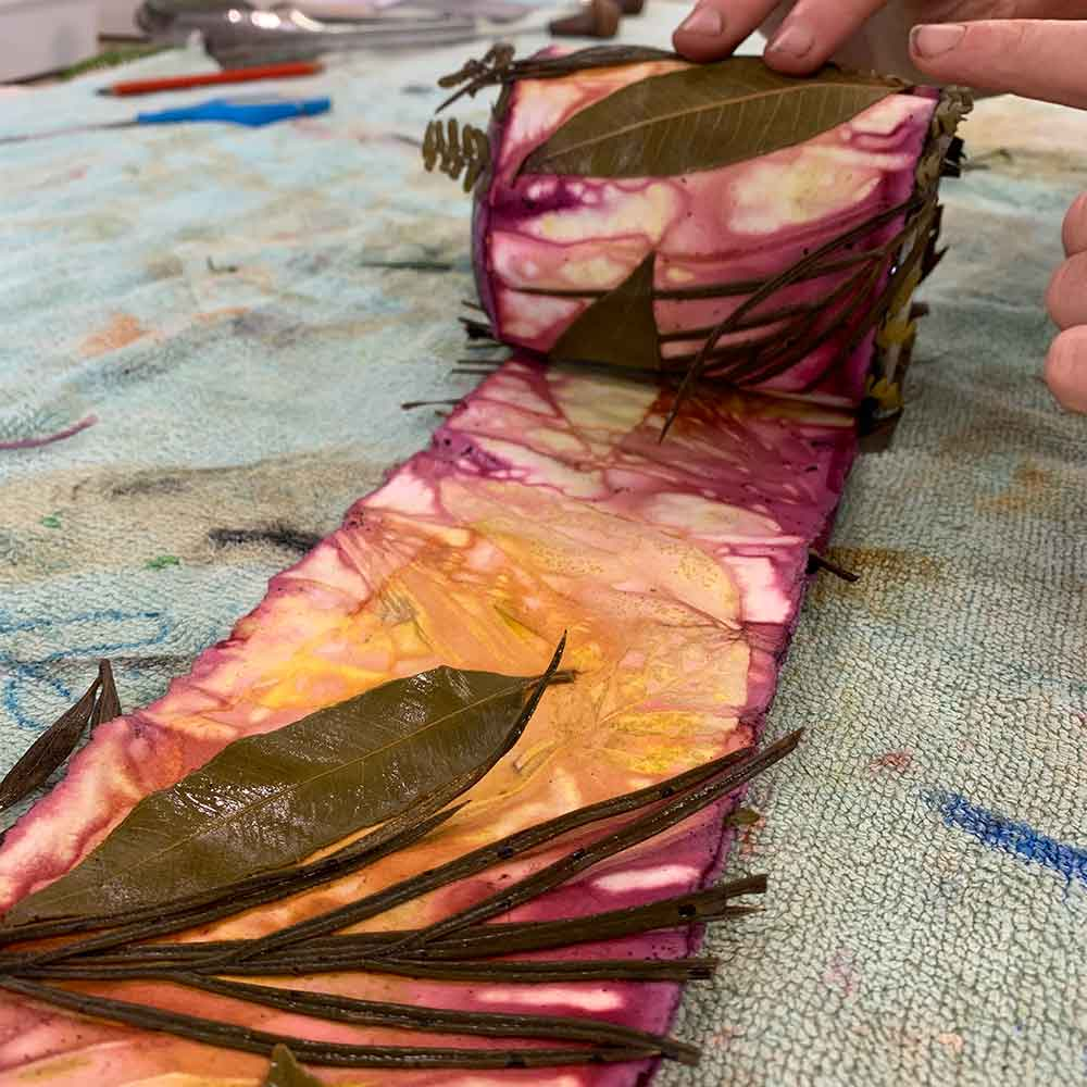 eco printing on paper