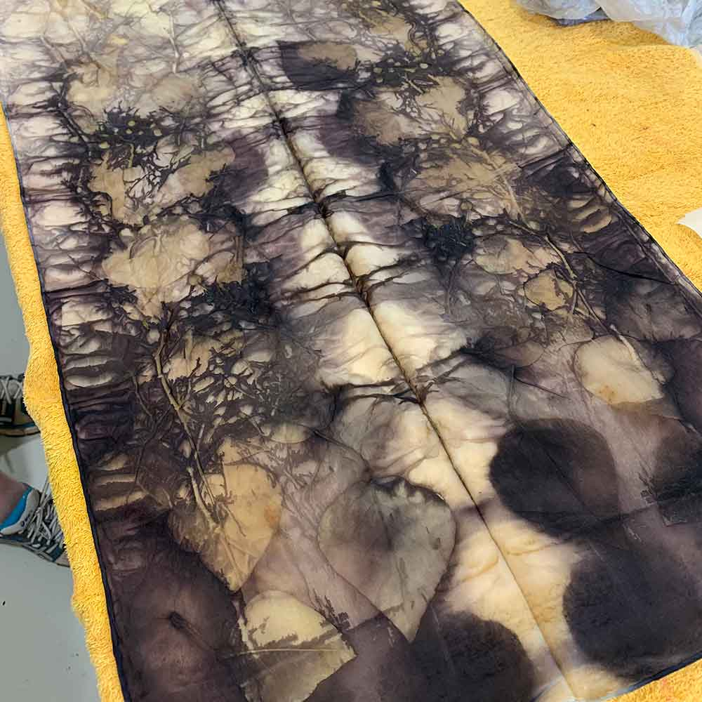 eco printing on silk