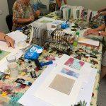 Buderim Craft Centre Textiles Group gel plate monoprinting workshop January 2020