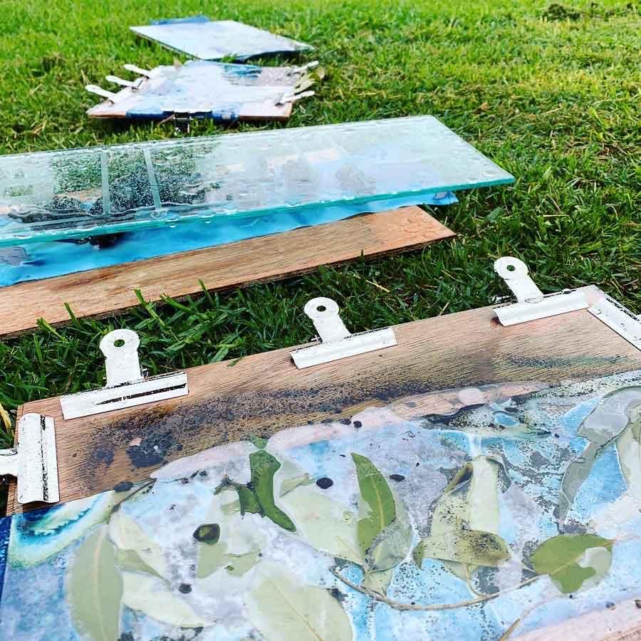 Wet cyanotype play