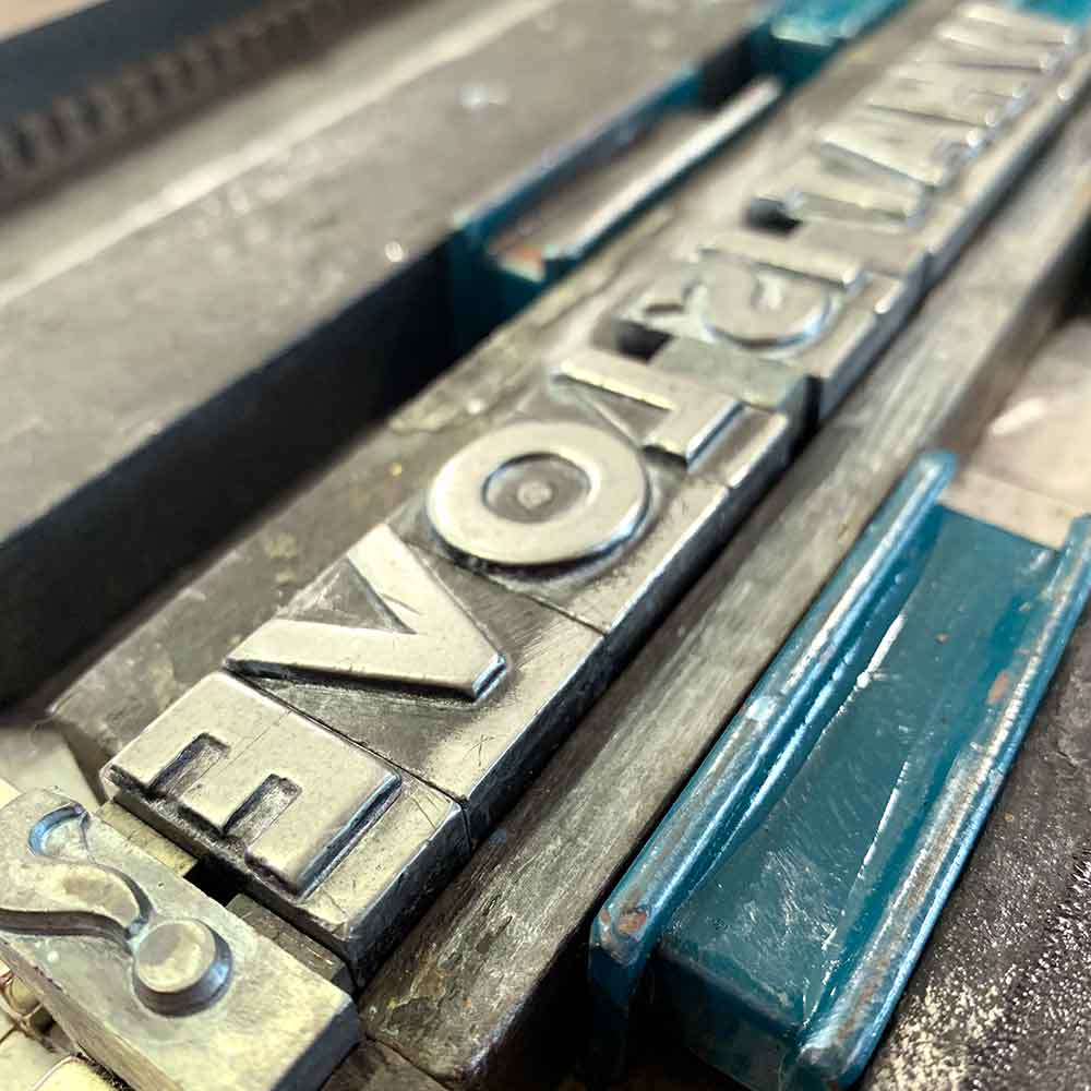lead letterpress type ready to print