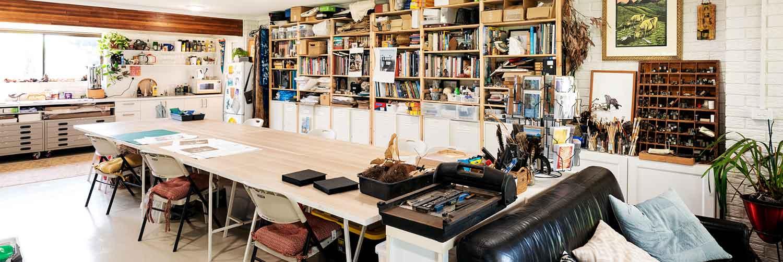 Kim Herringe - artist Studio, Maleny