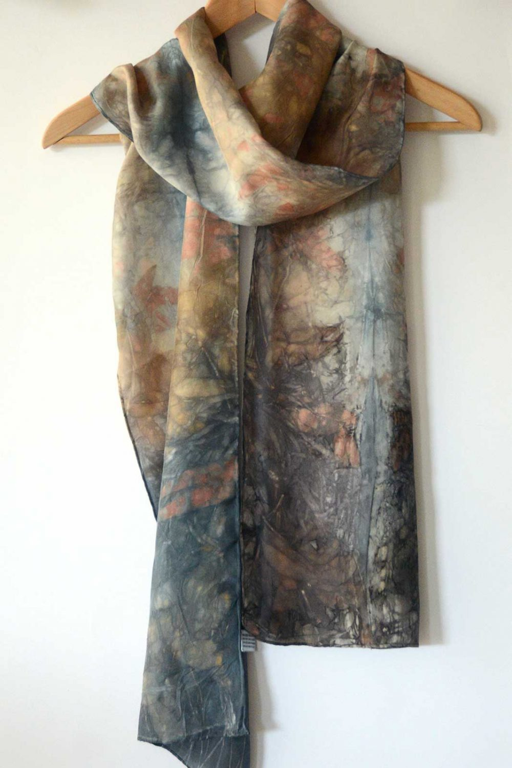 Botanical Eco Print Silk Scarf 180-03