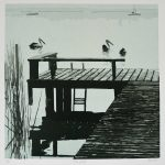 The Jetty - Reduction Linocut - Kim Herringe