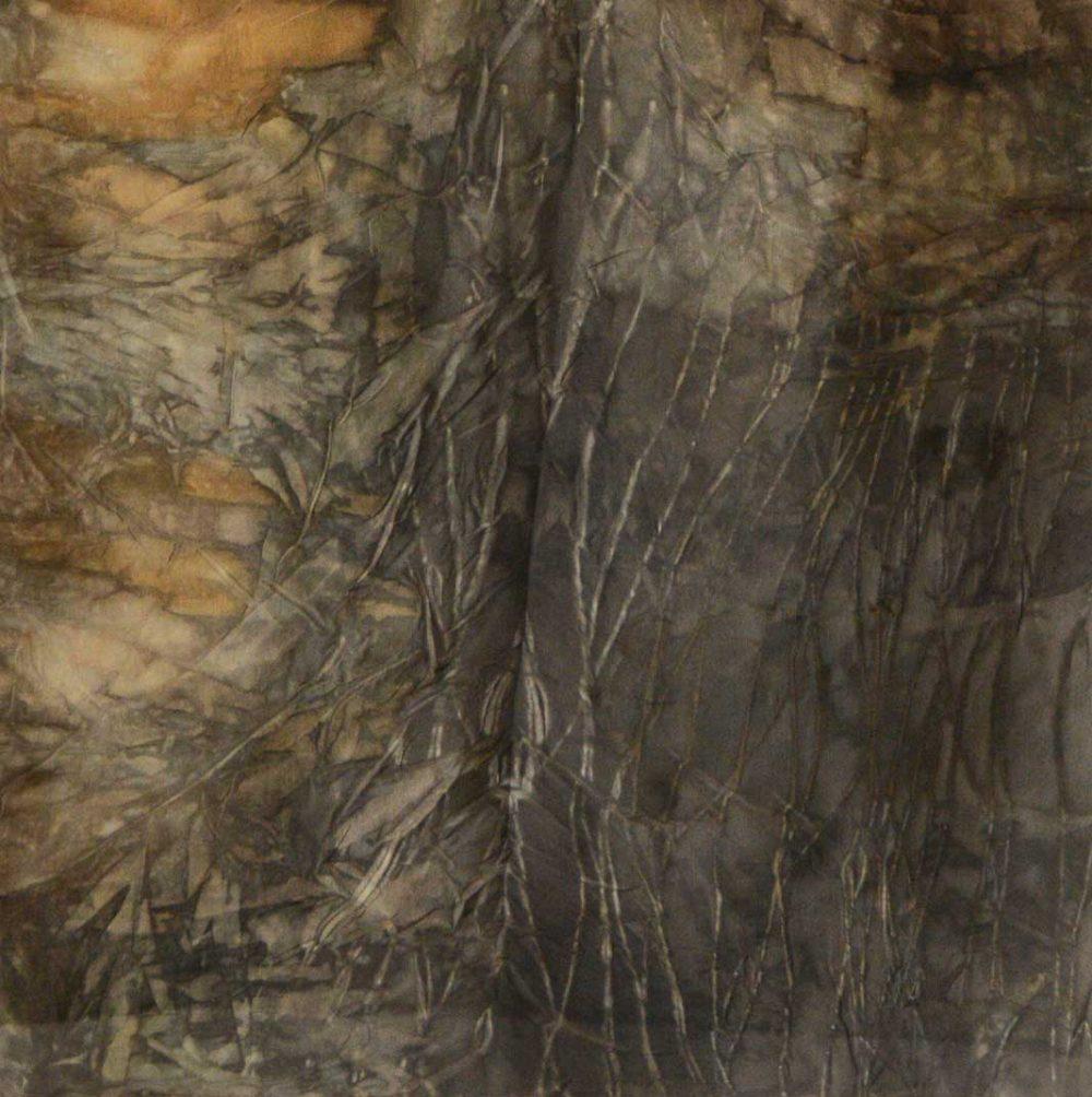 Botanical Eco Print Silk Scarf 160-02 - detail