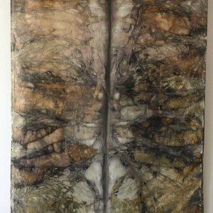 Botanical Eco Print Silk Scarf 160-02