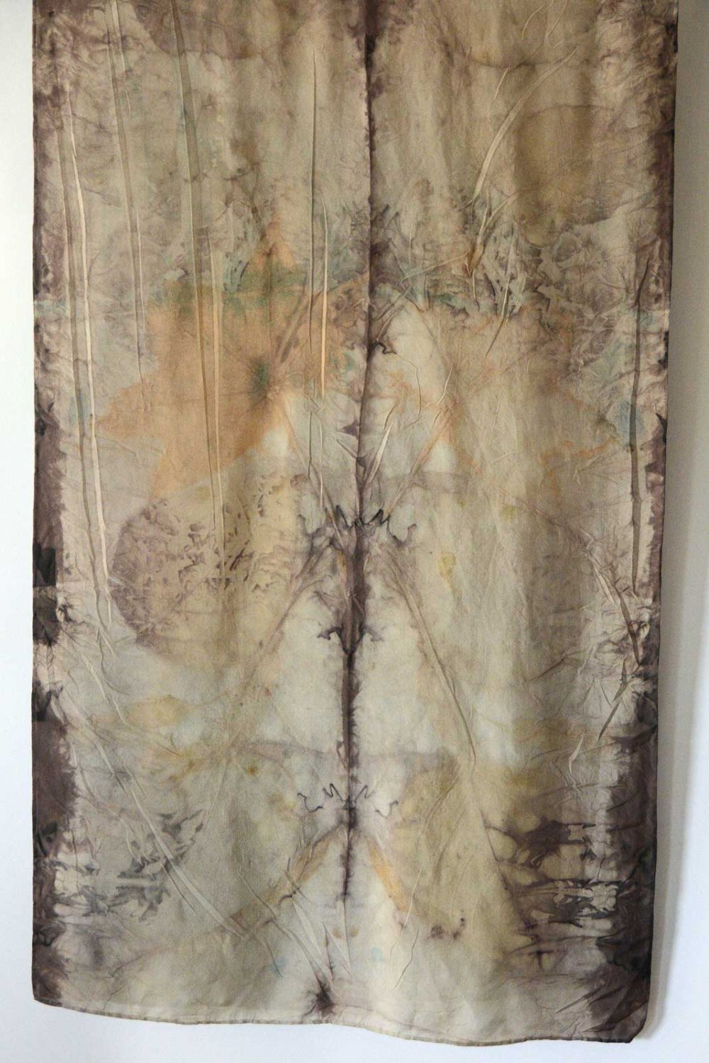 Botanical Eco Print Silk Scarf 160-03