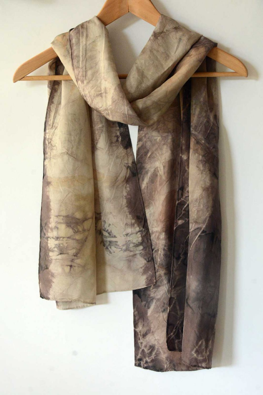 Botanical Eco Print Silk Scarf 160-03