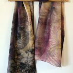 Botanical Eco Print Silk Scarf 160-05