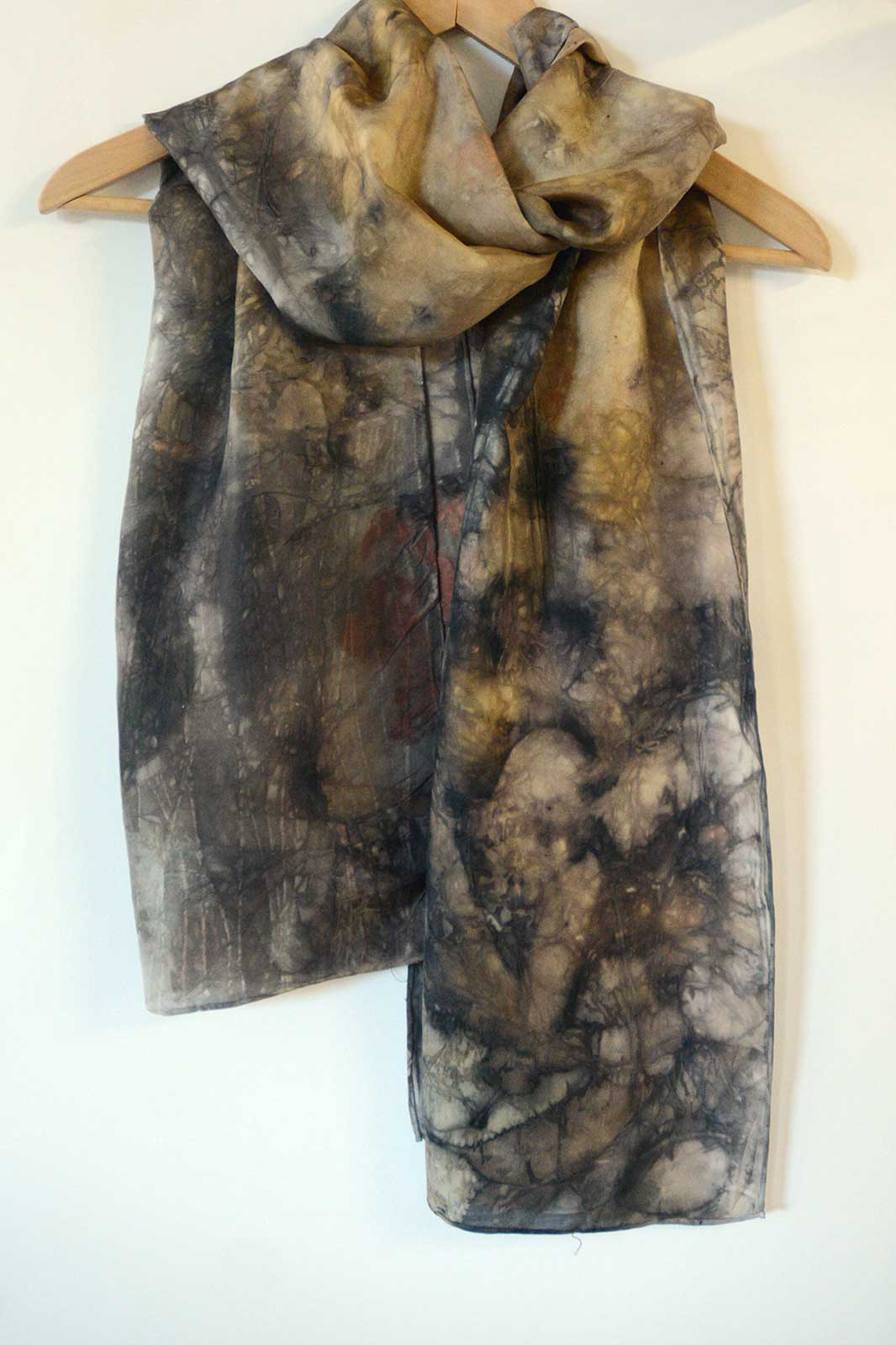 Eco-print Silk Scarf – 160x42cm