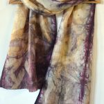 Botanical Eco Print Silk Scarf 160-07