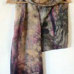 Botanical Eco Print Silk Scarf 160-08