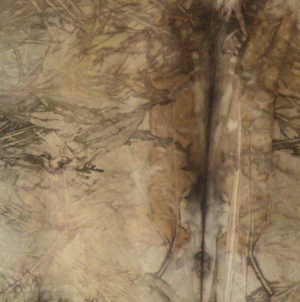 Botanical Eco Print Silk Scarf 160-10 - detail