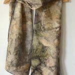 Botanical Eco Print Silk Scarf 160-10