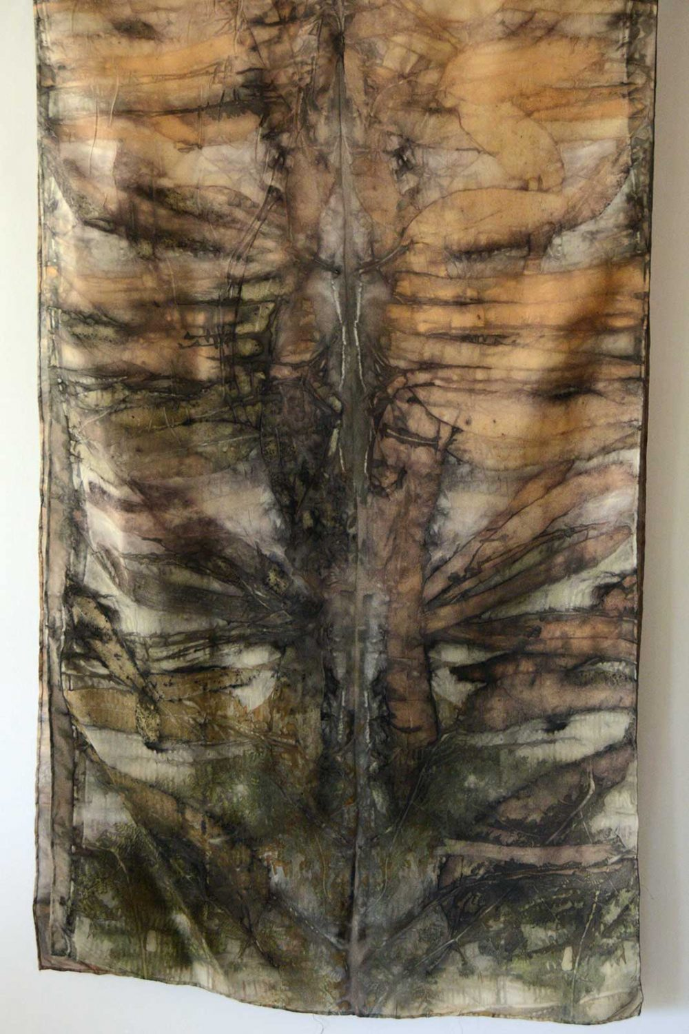 Botanical Eco Print Silk Scarf 160-11