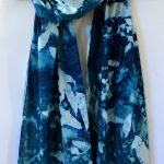 Cyanotype Cotton Scarf CCS-200-01