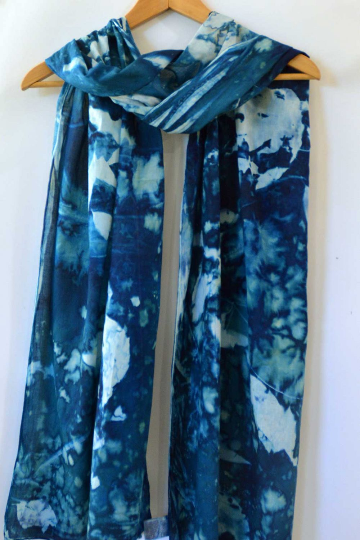 Cyanotype Cotton Scarf CCS-200-01