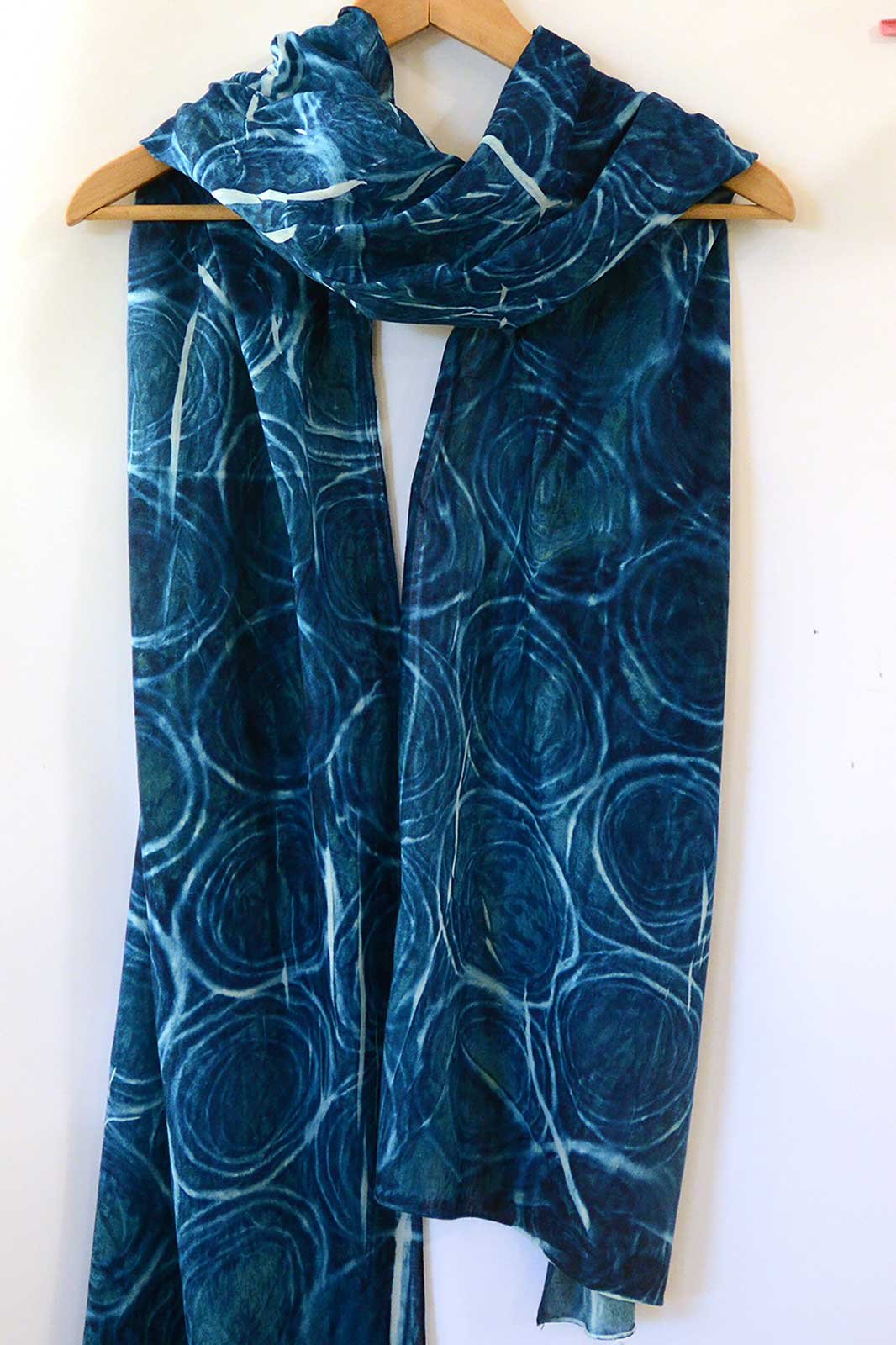 Cyanotype Cotton Scarf – 200x50cm