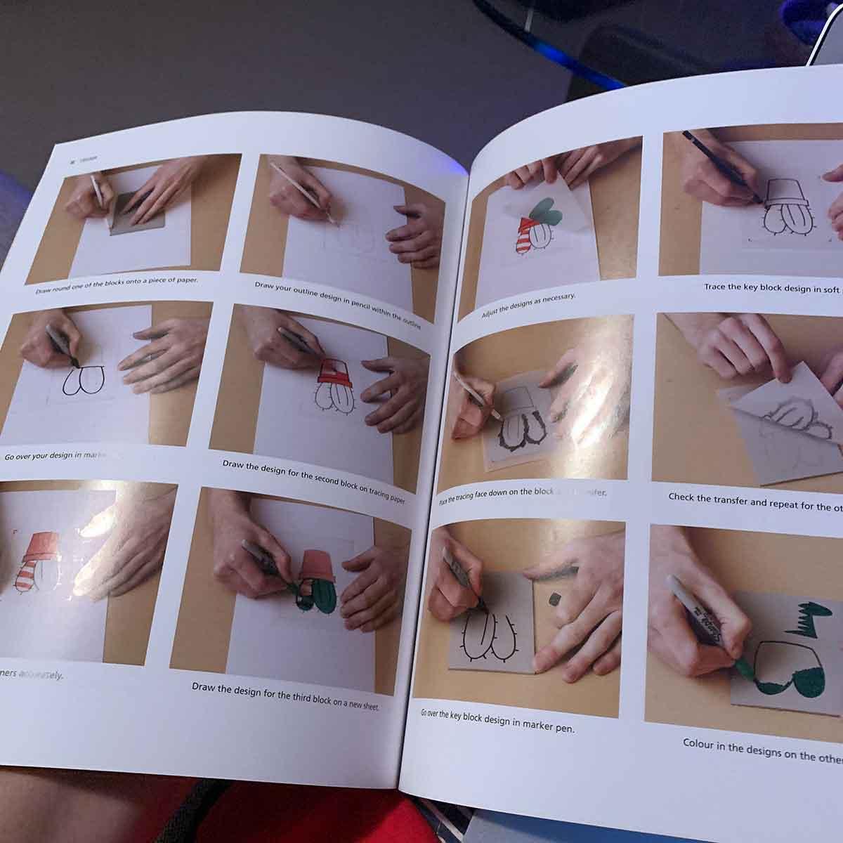 From The Bookshelf Linocut Reference Books Kim Herringe