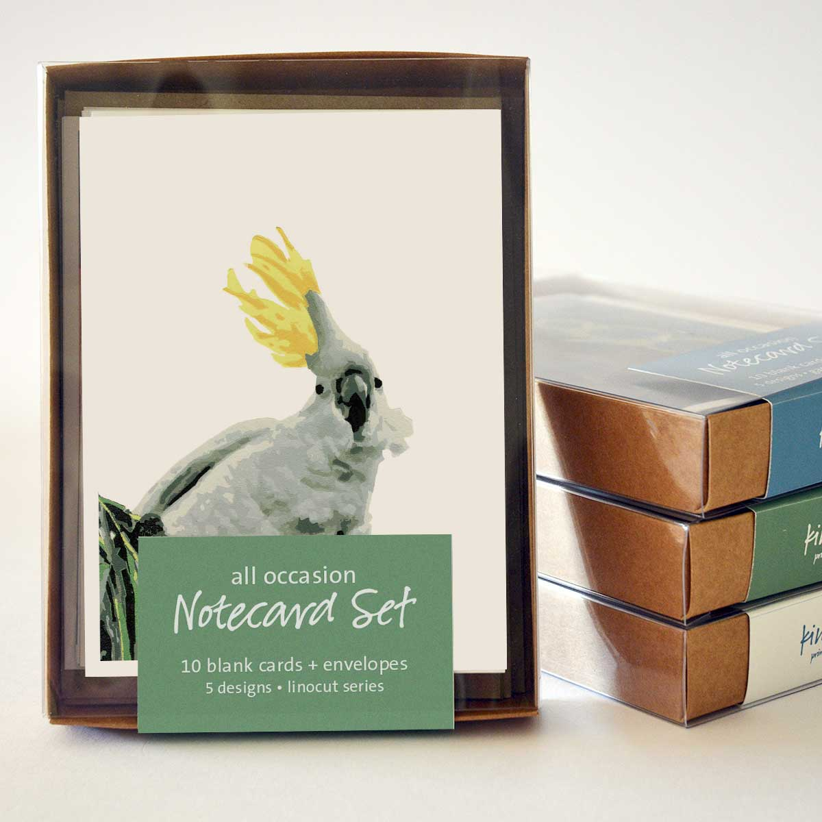 Linocut Notecard Set (10 cards)