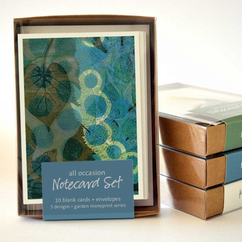 Garden Monotype Series - Notecard Set