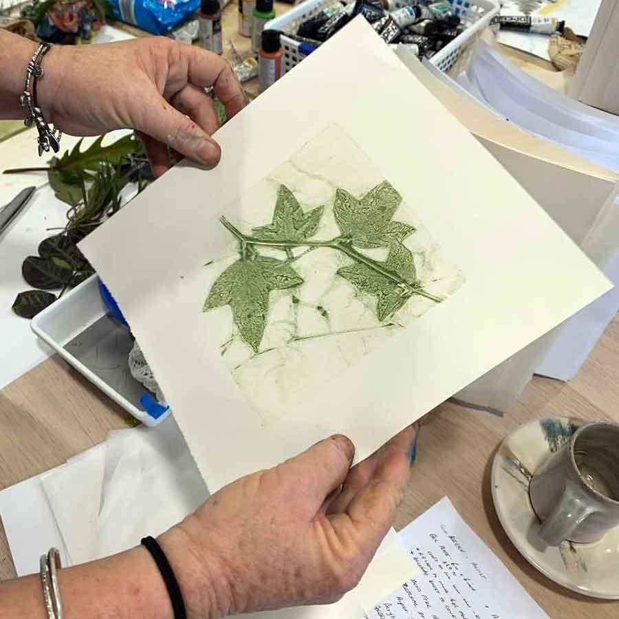 Gel plate printing workshop June 2020