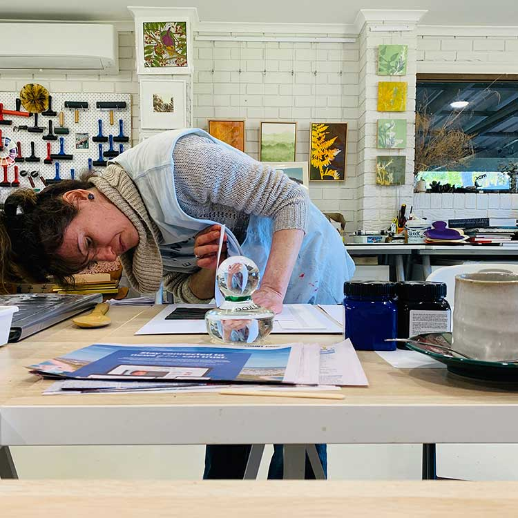 Colour and Reductive Linoprinting workshop - Fiona