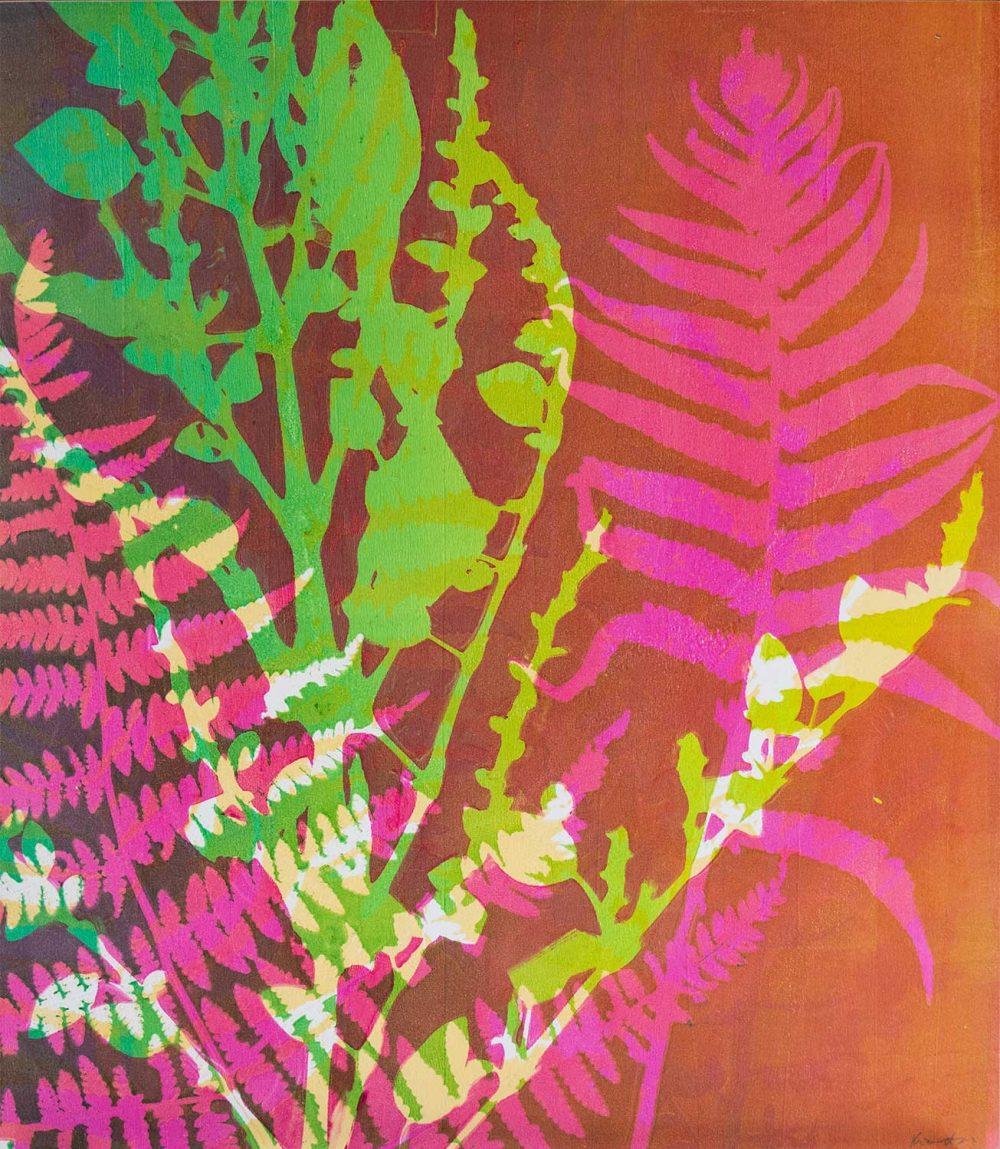 Wandering I - Gelatin Plate monotype print
