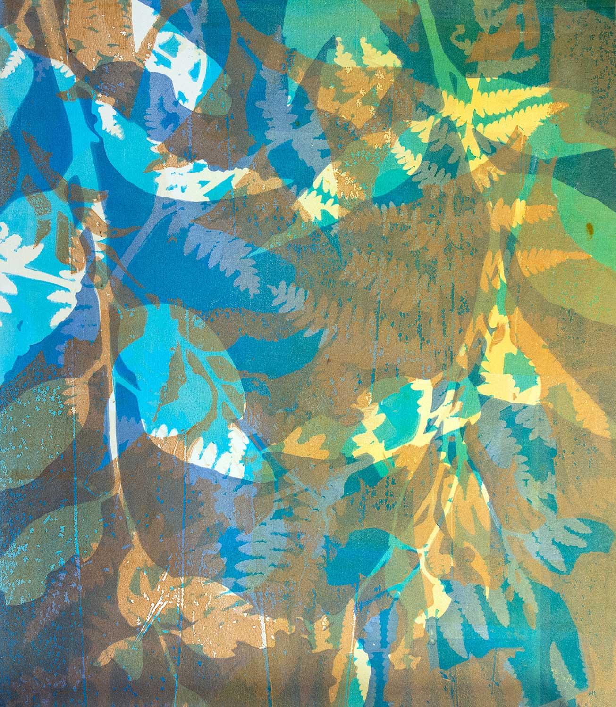 Wandering II - Gelatin Plate monotype print