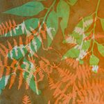 Wandering III - Gelatin Plate monotype print