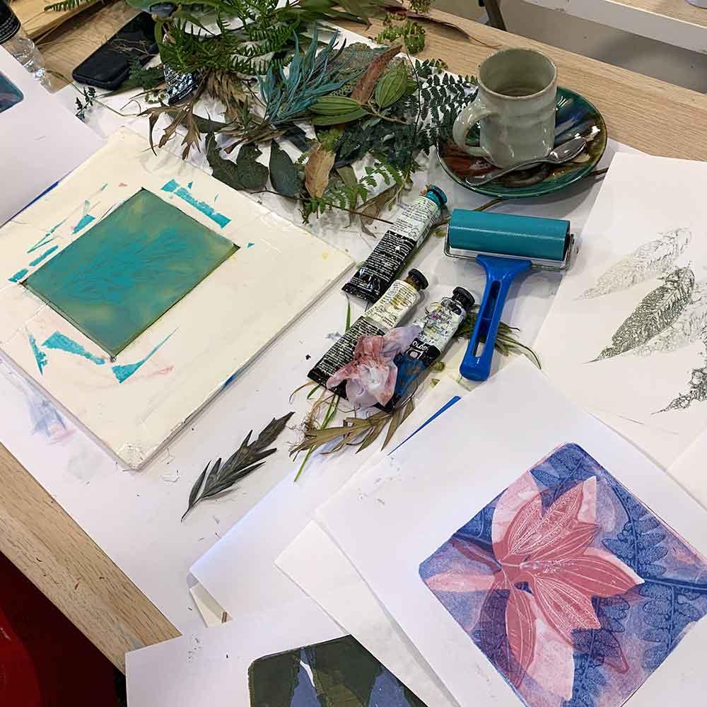 Gel Plate Monoprint Workshop August 2020