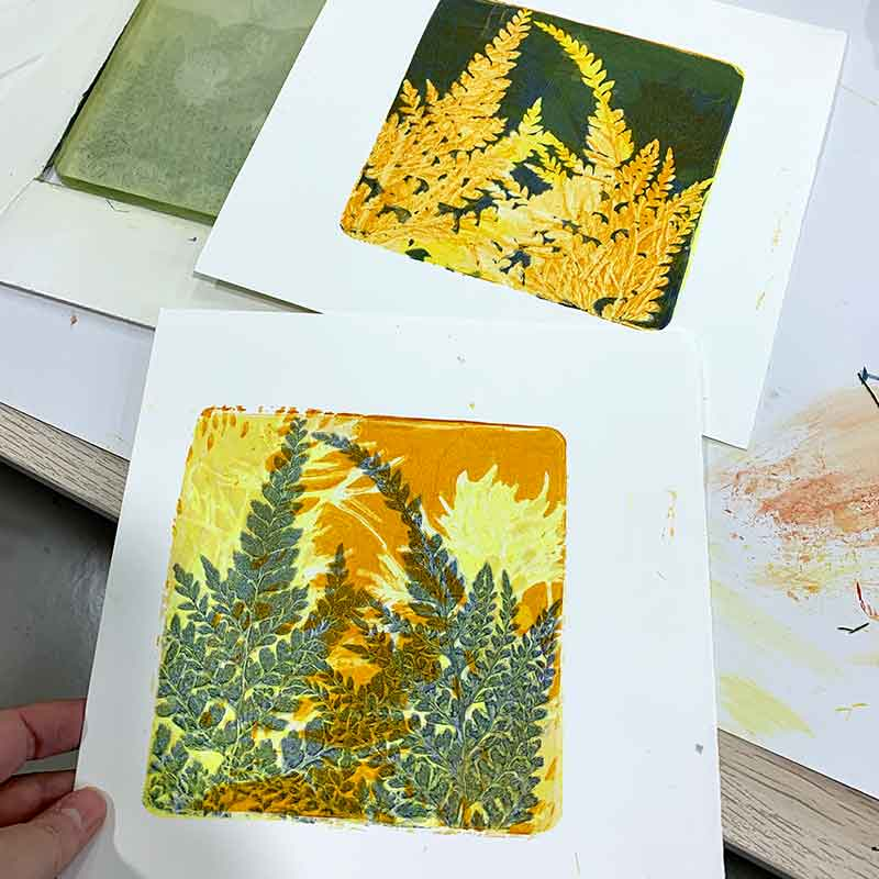 Gel Plate Monoprint Workshop August 2020