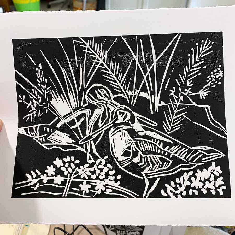 Linoprinting 101 Workshop August 2020