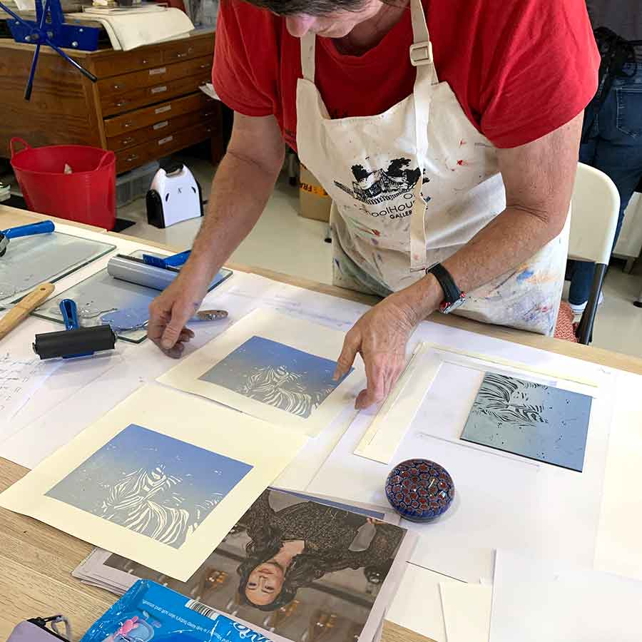 Reduction Linocut Workshop August 2020