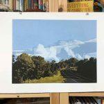 The long way home - Reduction Linocut, Kim herringe