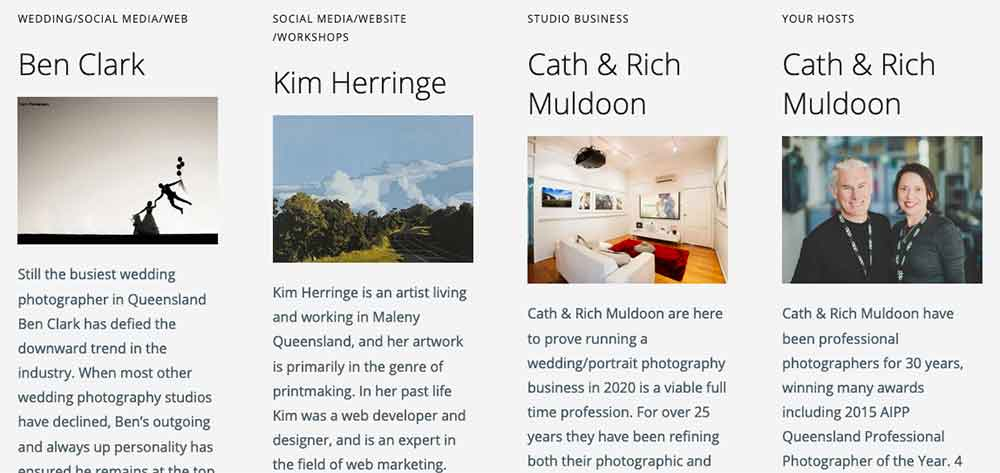 Vivid Photography Photographers Retreat 2020