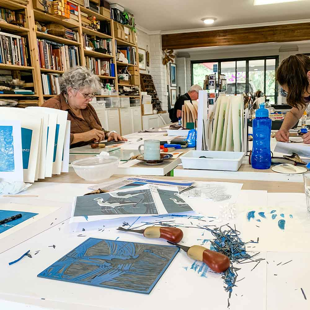 Reduction Linocut Workshop September 2020