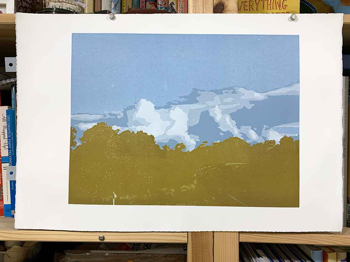 The long way home - Reduction Linocut layer 10