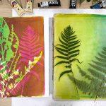Wandering 1 ... gel plate monoprint in progress