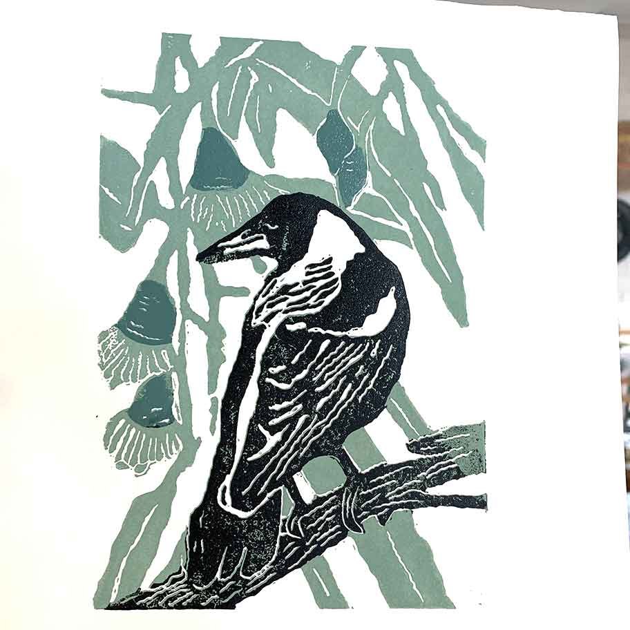 Reductio linocut workshop - October 2020