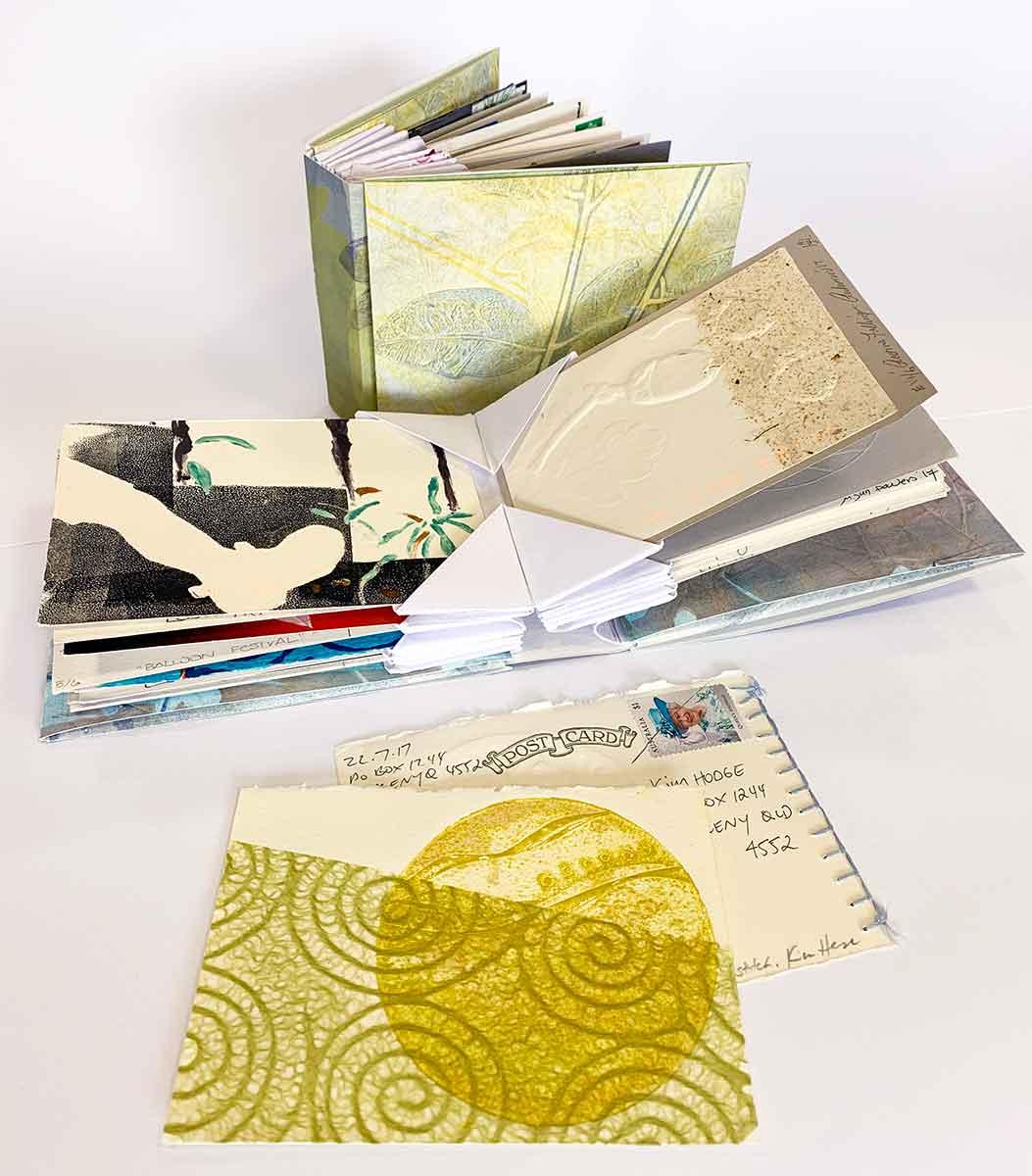 'Seasons' Artist Books postcard print exchange