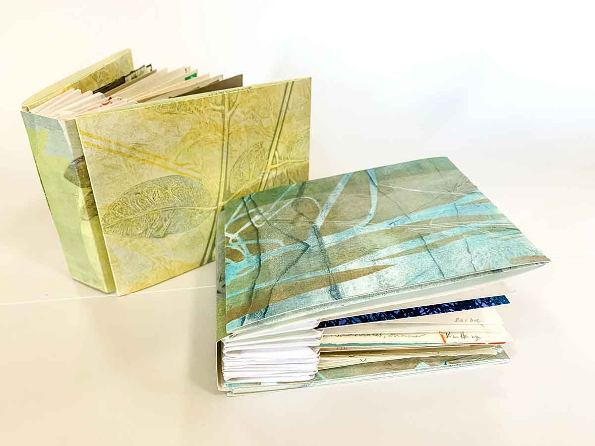 'Seasons' Artist Books postcard print exchange