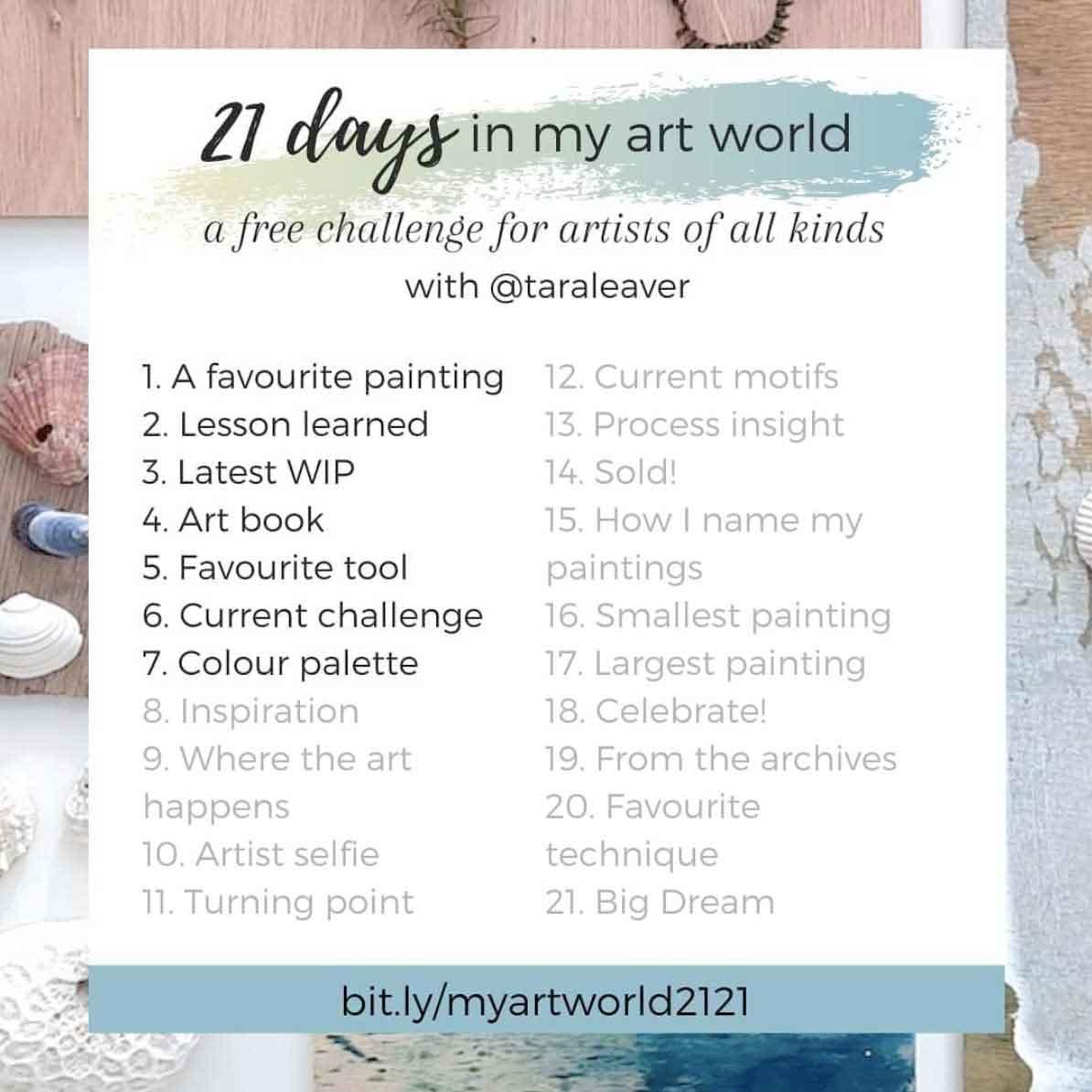 21 days in my art world – 2021, Week 1 - Days 1-7