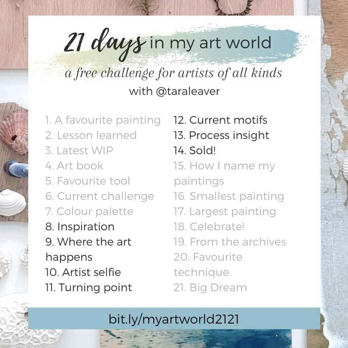 21 days in my art world – 2021, Week 2 - Days 8-14