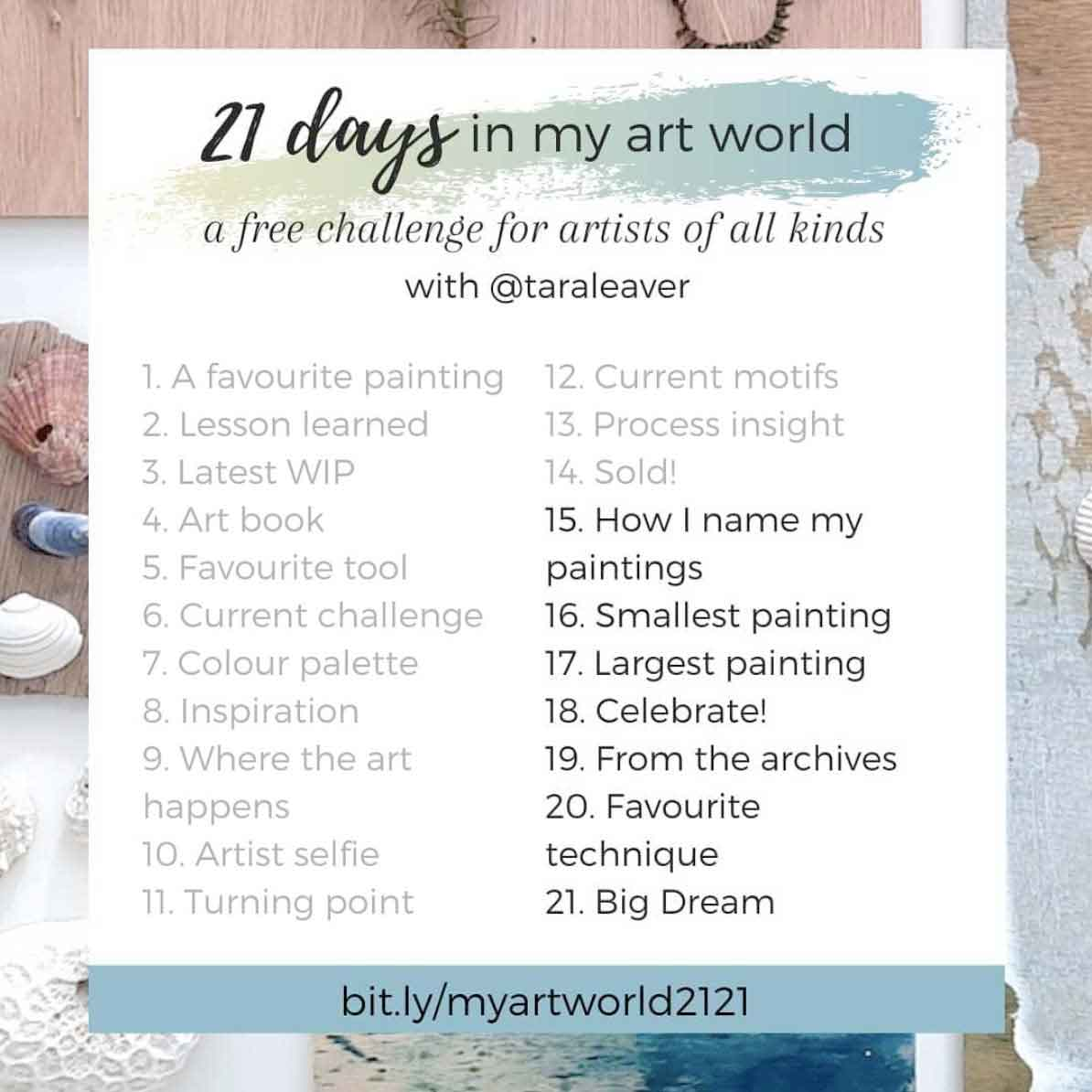 21 days in my art world – 2021, Week 3 - Days 15-21