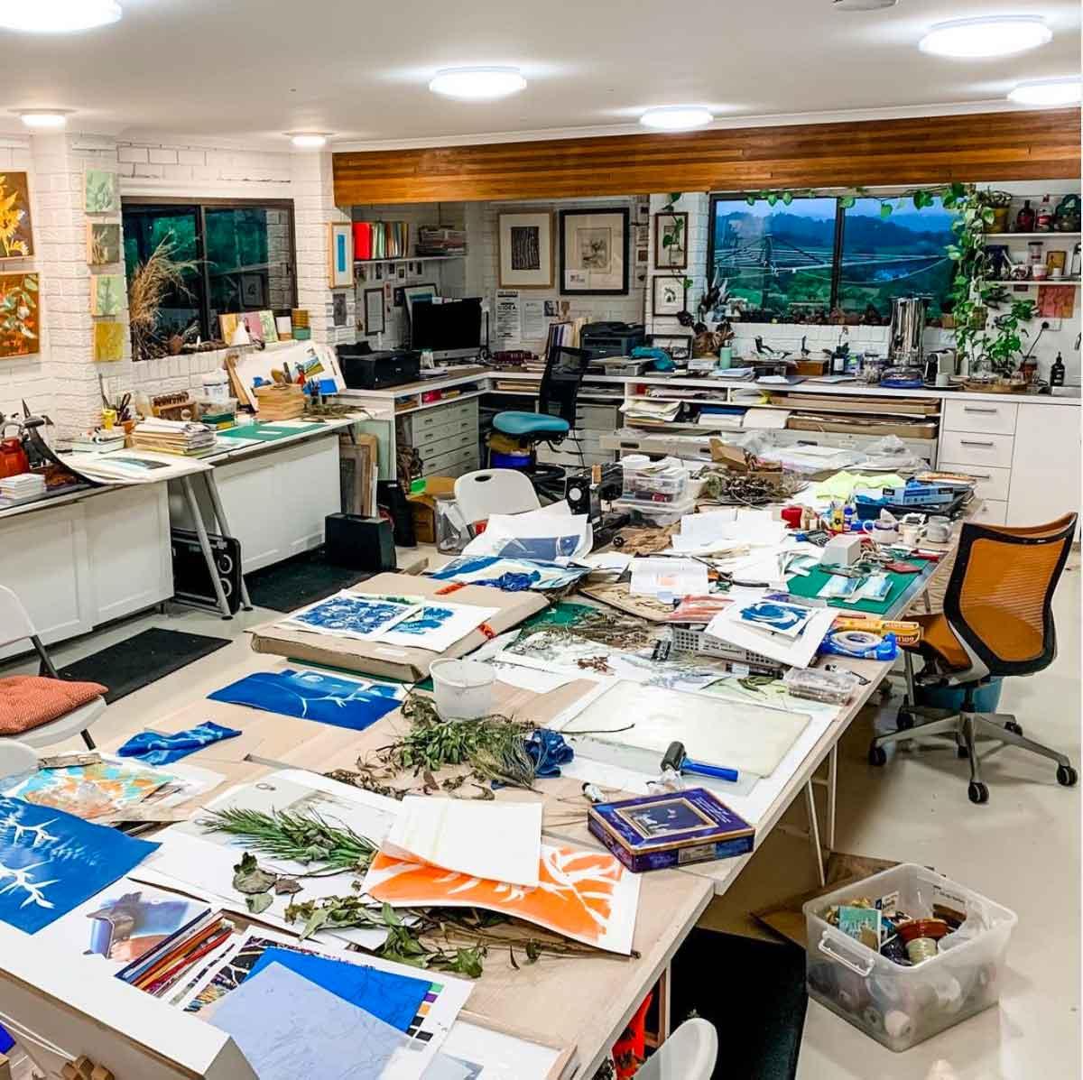 my studio, 5am New years Day 2021
